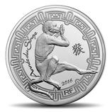 10 euros argent Année du singe 2016