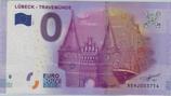 Billet touristique 0€ Euro souvenir Lubeck Travemunde 2016