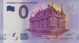 Billet touristique 0€ Chateau d'Azay le Rideau 2017
