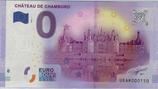 Billet touristique 0€ Chateau de Chambord vue d'ensemble et douves 2016