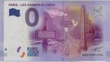 Billet touristique 0€ Paris Les Champs Elysées 2016