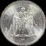 50 francs argent hercule 1974-1980