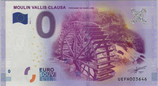 Billet touristique 0€ Moulin Vallis Clausa Fontaine de Vaucluse 2016