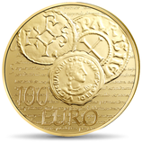 100 euros Semeuse 2014 en or 1/2 oz