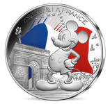 50 euros argent colorisée Mickey Vague 2 Champs Elysées