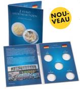 Carte p. 5 pièces de 2€ allem. commém. « 30. anniv. de la Chute du Mur de Berlin » (2019)