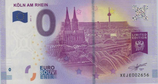 Billet touristique 0€ Koln am Rhein vue d'ensemble 2017