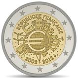 2 euros 10 ans de l'euro BE 2012