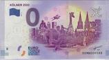 Billet touristique 0€ Kolner zoo ensemble animaux et zoo 2017