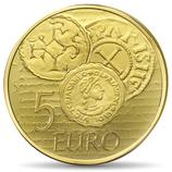 5 euros Semeuse 2014 en or 0,5 g.