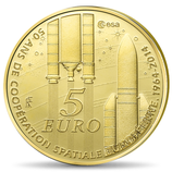 5 euros Europa 0,5 g. or Coopération spatiale 2014