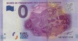 Billet touristique 0€ Musée de préhistoire des gorges du Verdon 2016
