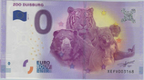 Billet touristique 0€ Zoo Duisburg tigre ours 2017