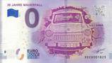 Billet touristique 0€ 30 jahre Mauerfall 2018