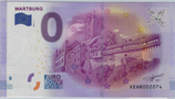 Billet touristique 0€ Euro souvenir Wartburg 2016