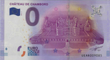 Billet touristique 0€ Chateau de Chambord vue aérienne 2016