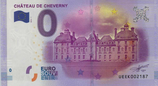 Billet touristique 0€ Chateau de Cheverny 2016