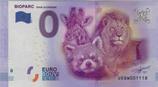 Billet touristique 0€ Bioparc Doué la fontaine 2016