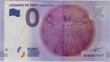 Billet touristique 0€ Léonard de Vinci Homme de Vitruve 2016