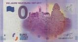 Billet touristique 0€  950 jahre Wartburg 1067 2017