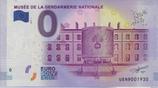 Billet touristique 0€ Musée de la gendarmerie nationale 2017