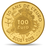 100 euros Semeuse 2012 en or 1/2 oz