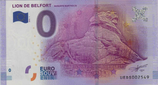 Billet touristique 0€ Lion de Belfort Auguste Bartholdi 2016