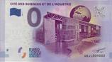 Billet touristique 0€ Cité des sciences et de l'industrie 2017