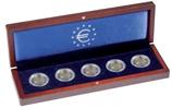 Ecrin VOLTERRA p. 5 pièces de 2€ allem. commém. «30. anniv. Chute du Mur de Berlin»(2019)