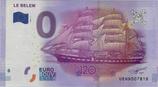 Billet touristique 0€ Le Belem 2016