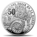 50 euros argent 5 onces Grande guerre Taxis de la Marne 2014