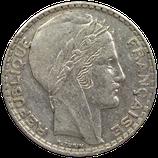 20 francs argent Turin 1929-1939