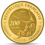 200 euros Jeux d'été Judo 2012 en or 1 oz