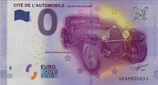Billet touristique 0€ Cité de l'automobile Collection Schlumpf 2016