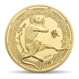 50 euros Année du singe 2016 en or 1/4 oz