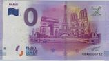 Billet touristique 0€ Paris arc triomphe tour eiffel ND derrière pont 2016