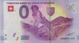 Billet touristique 0€ Fondation Barry du grand Saint Bernard 2017