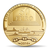 50 euros Le redoutable 2014 or 1/4 oz