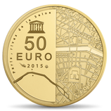 50 euros Rives de Seine Grand Palais Invalides 2015 en or 1/4 oz