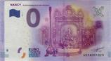 Billet touristique 0€ Nancy Place Stanislas et art nouveau 2016