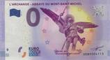Billet touristique 0€ L'archange Abbaye du Mont Saint Michel 2017