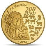 200 euros Année du dragon 2012 en or 1 oz