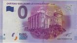 Billet touristique 0€ Chateau de Guillaume le conquérant Falaise 2016