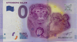 Billet touristique 0€ Euro souvenir Affenberg salem 2016