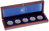 Coffret  VOLTERRA pour cinq pièces de 2 euros en capsules
