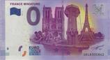 Billet touristique 0€ France miniature monuments miniatures 2017