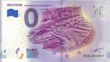 Billet touristique 0€ Riccione convegno filatelico numismatico 2018