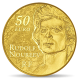 50 euros Rudolf Noureev La danse 2013 en or 1/4 oz