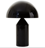 Metal Black/White Table Lamp Atollo 233 by Vico Magistretti for Oluce