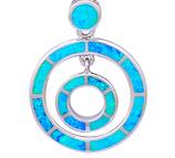 Collier Opale blue